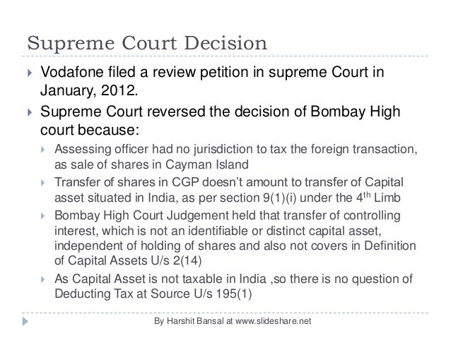 vodafone hutch case study tax What exactly was the problem in the vodafone-hutchison tax case update this cgp investments had 67% shares of hutch essar india vodafone bought this company.