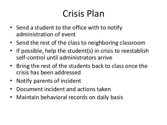 Hutchison P Behavior Management Plan