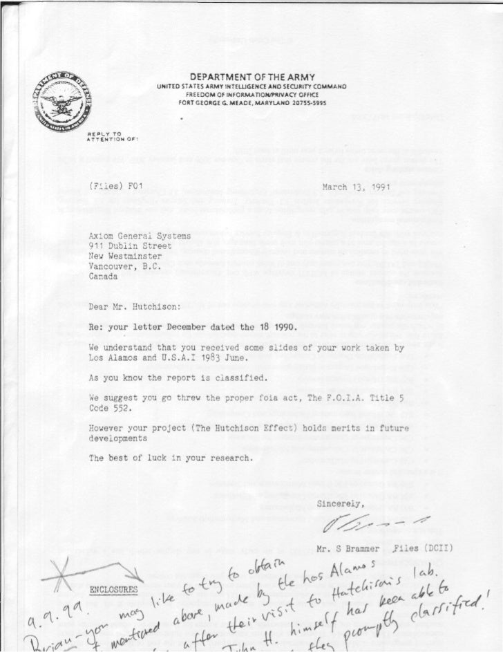 DEPARTMENT OF THE ARMY                                UNITED STATES ARMY INTEUJGENCE ANO SECURITY COMMAND                 ...