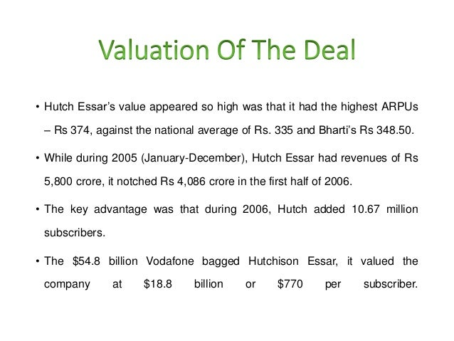Vodafone hutch case study tax