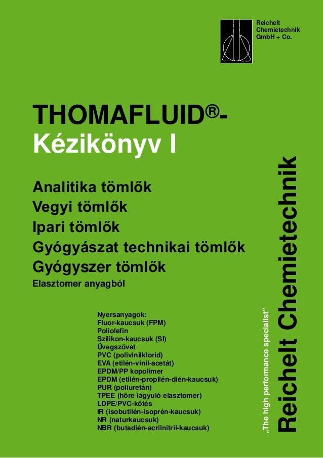 """Reichelt Chemietechnik GmbH + Co. """"Thehighperformancespecialist"""" ReicheltChemietechnik THOMAFLUID®- Kézikönyv I Analitika ..."""