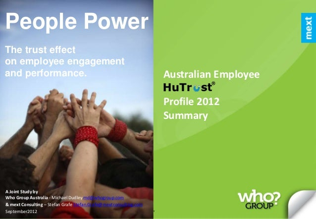 People PowerThe trust effecton employee engagementand performance.                                                        ...