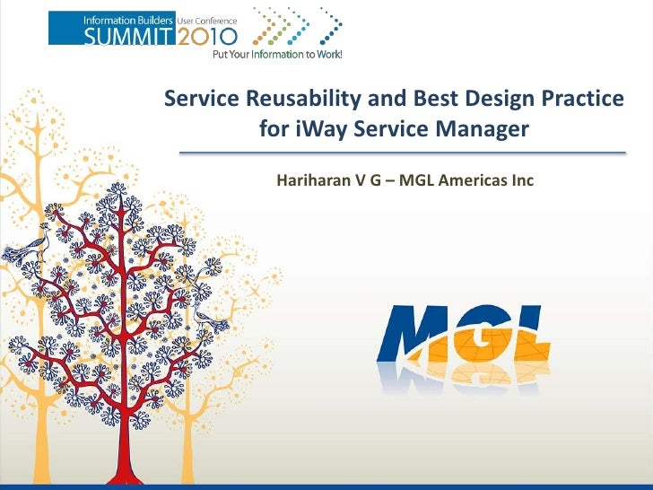 Service Reusability and Best Design Practice          for iWay Service Manager           Hariharan V G – MGL Americas Inc