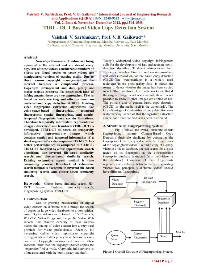 Vaishali V. Sarbhukan, Prof. V. B. Gaikwad / International Journal of Engineering Research                  and Applicatio...