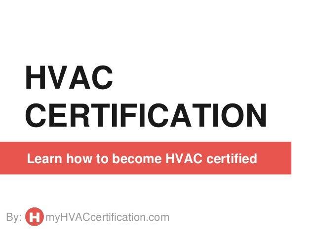 hvac certification guide slideshare learn cb certified