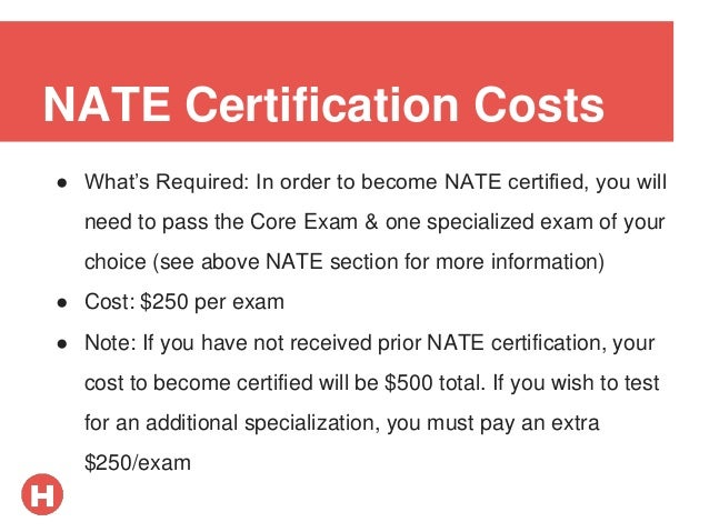 certification hvac nate