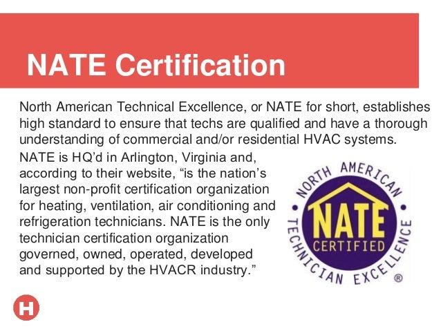 hvac certification