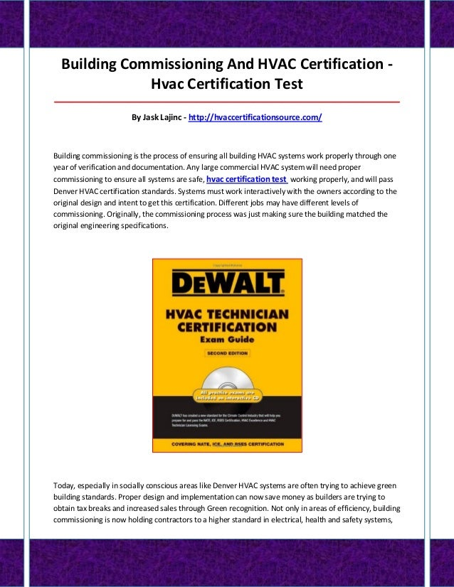 Hvac Certification Test