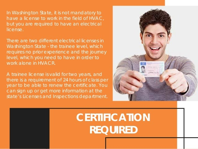 Washington Hvac License And Certificate Requirements