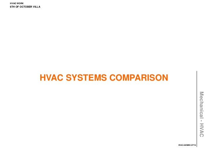 HVAC WORK6TH OF OCTOBER VILLA                   HVAC SYSTEMS COMPARISON                                                   ...