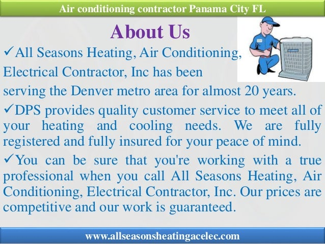 About Us All Seasons Heating, Air Conditioning, Electrical Contractor, Inc has been serving the Denver metro area for alm...