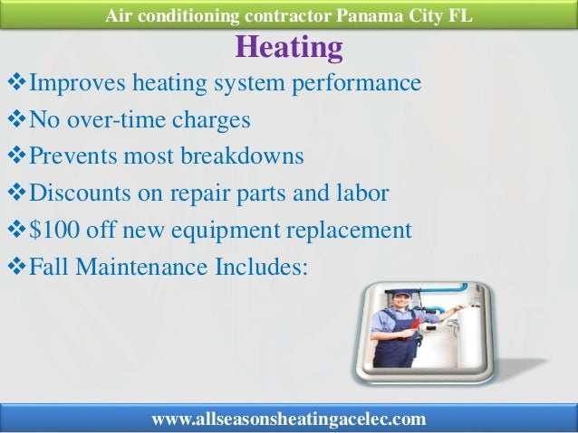 Heating Improves heating system performance No over-time charges Prevents most breakdowns Discounts on repair parts an...