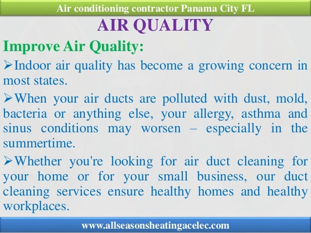 AIR QUALITY Improve Air Quality: Indoor air quality has become a growing concern in most states. When your air ducts are...