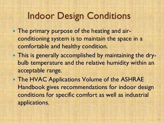 Hvac for beginners for Indoor design temperature ashrae