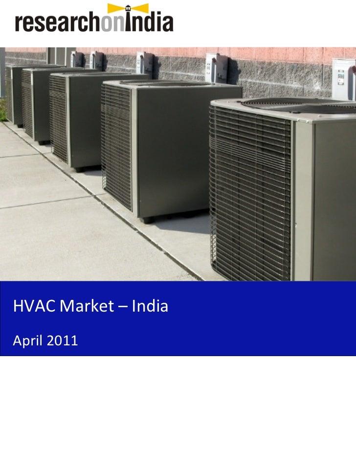 HVAC Market – IndiaApril 2011