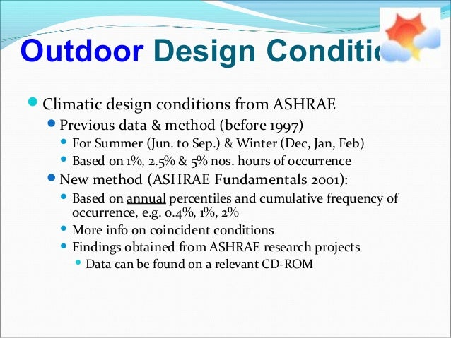 Hvac psychrometry and concepts for Indoor design conditions ashrae