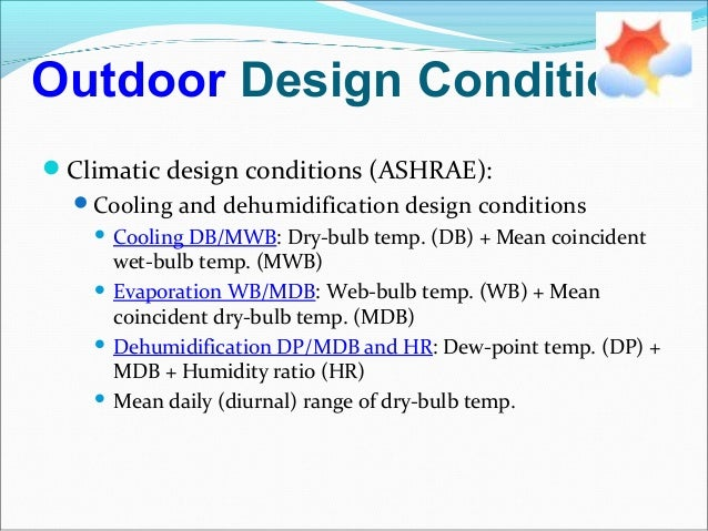 Hvac psychrometry and concepts for Indoor design temperature ashrae