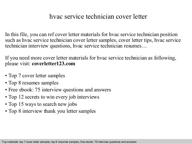 Wonderful Interview Questions And Answers U2013 Free Download/ Pdf And Ppt File Hvac Service  Technician Cover ...