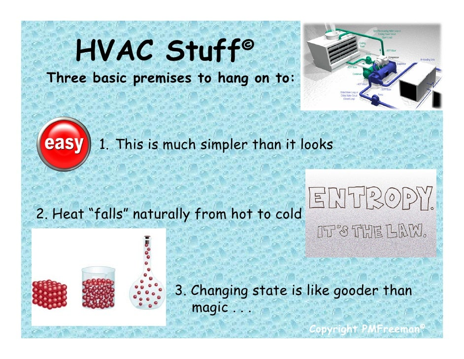 "HVAC Stuff© Three basic premises to hang on to:         1. This is much simpler than it looks2. Heat ""falls"" naturally fro..."