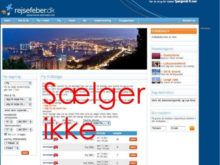 Jeg vil gerne til Malaga  Lytter og  Sælger                   © Creuna   31
