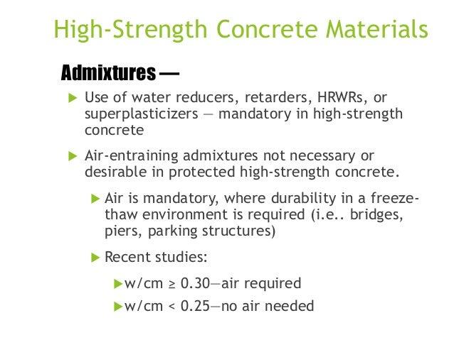 High performance concrete
