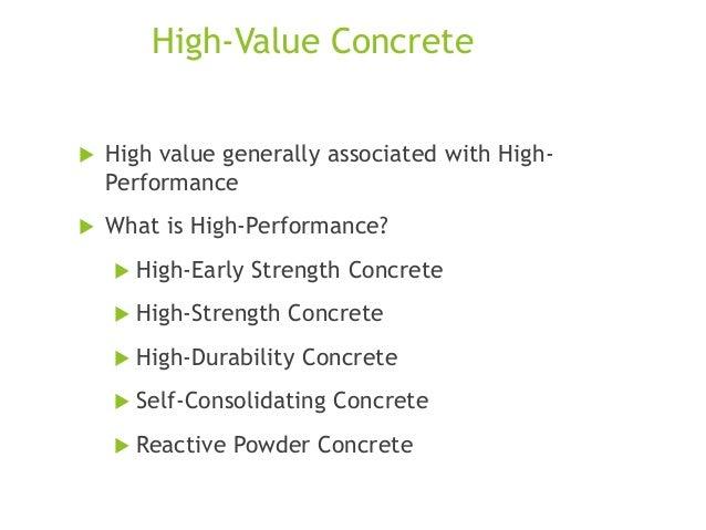 High performance concrete (HPC)  Slide 3