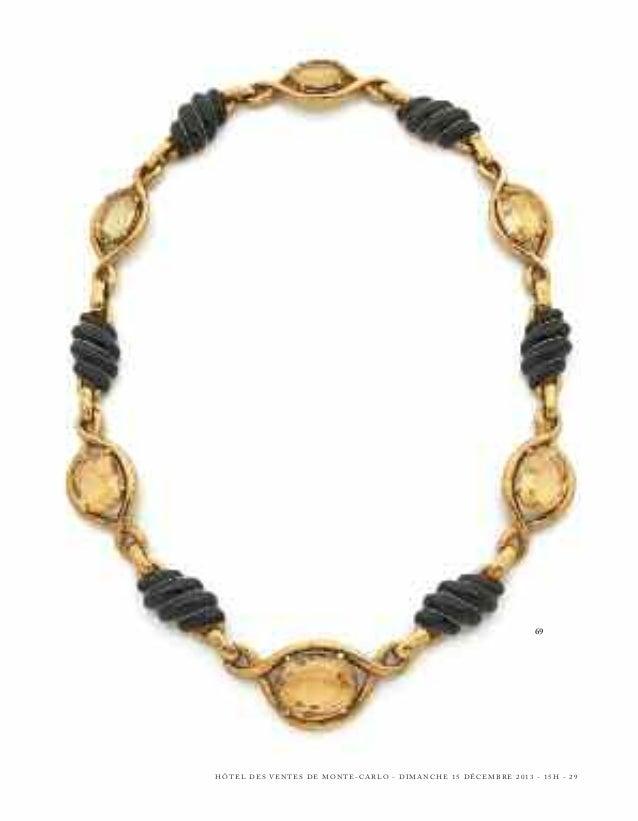 75 - LONG COLLIER  en or jaune, ponctué de perles de culture de forme baroque et de perles d'or noirci pavées de diamants ...