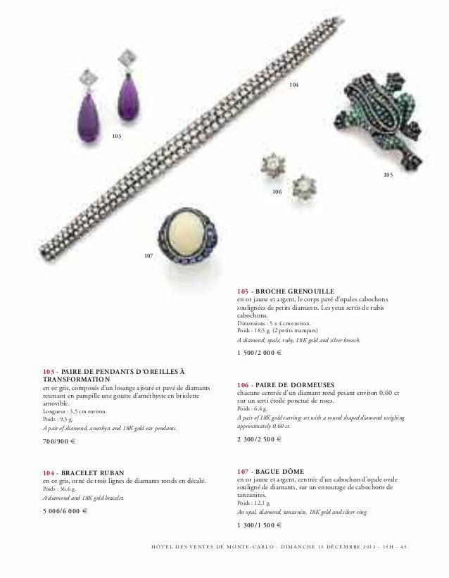 119 - PAIRE DE DEMI-CRÉOLES  en or gris, en ligne d'émeraudes et de petits diamants. Poids : 11 g.  A pair of diamond and ...