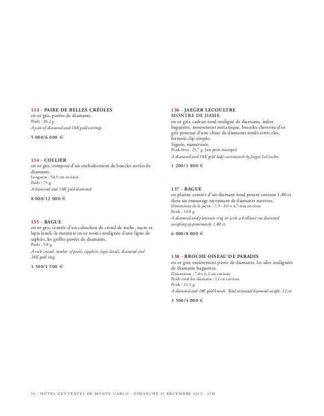 143  144  HÔTEL DES VENTES DE MONTE-CARLO - DIMANCHE 15 DÉCEMBRE 2013 - 15H - 59