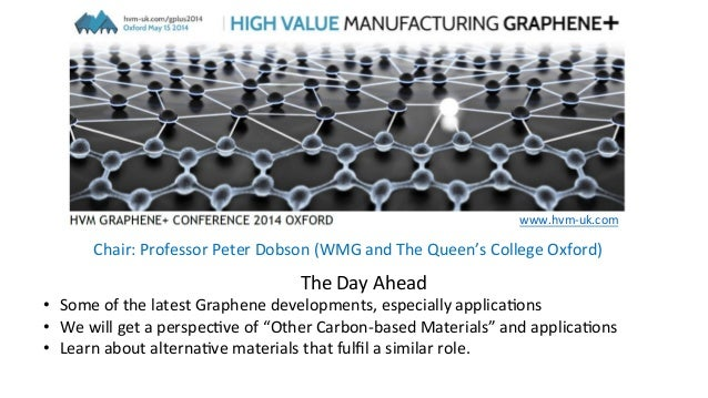 The	   Day	   Ahead	    •  Some	   of	   the	   latest	   Graphene	   developments,	   especially	   applica9ons	    •  We...