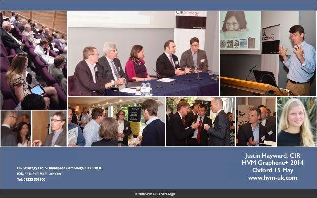 Justin Hayward, CIR HVM Graphene+ 2014 Oxford 15 May www.hvm-uk.com
