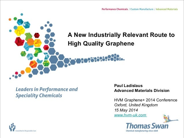 A New Industrially Relevant Route to High Quality Graphene Paul Ladislaus Advanced Materials Division HVM Graphene+ 2014 C...