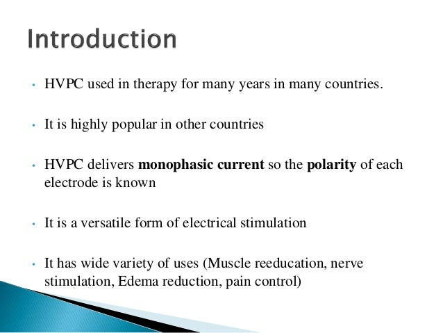 High Voltage Pulse Stimulation