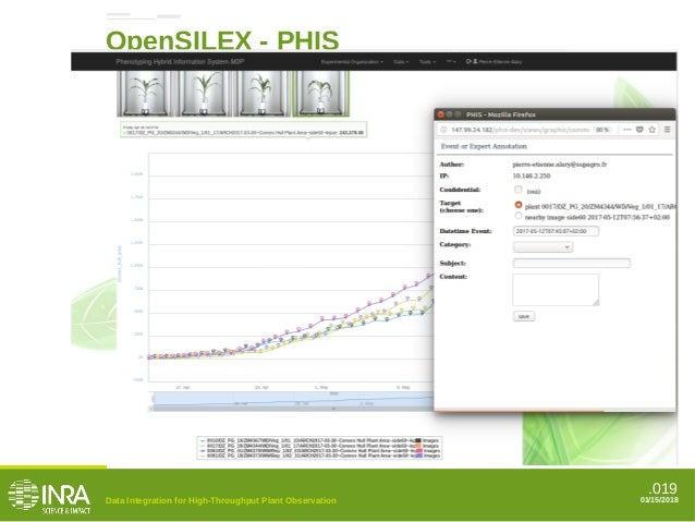.019 OpenSILEX - PHIS Event annotation Data Integration for High-Throughput Plant Observation 01/15/2018