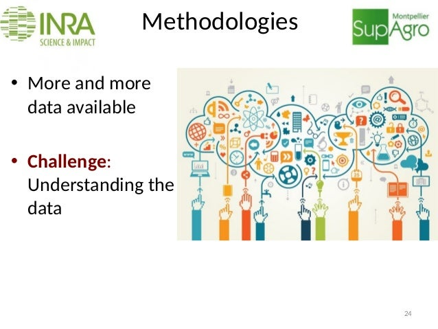 Methodologies • More and more data available • Challenge: Understanding the data 24