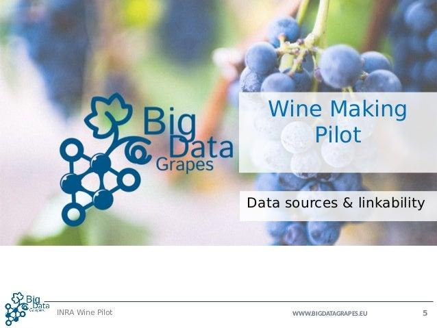 WWW.BIGDATAGRAPES.EU Wine Making Pilot Data sources & linkability INRA Wine Pilot 5
