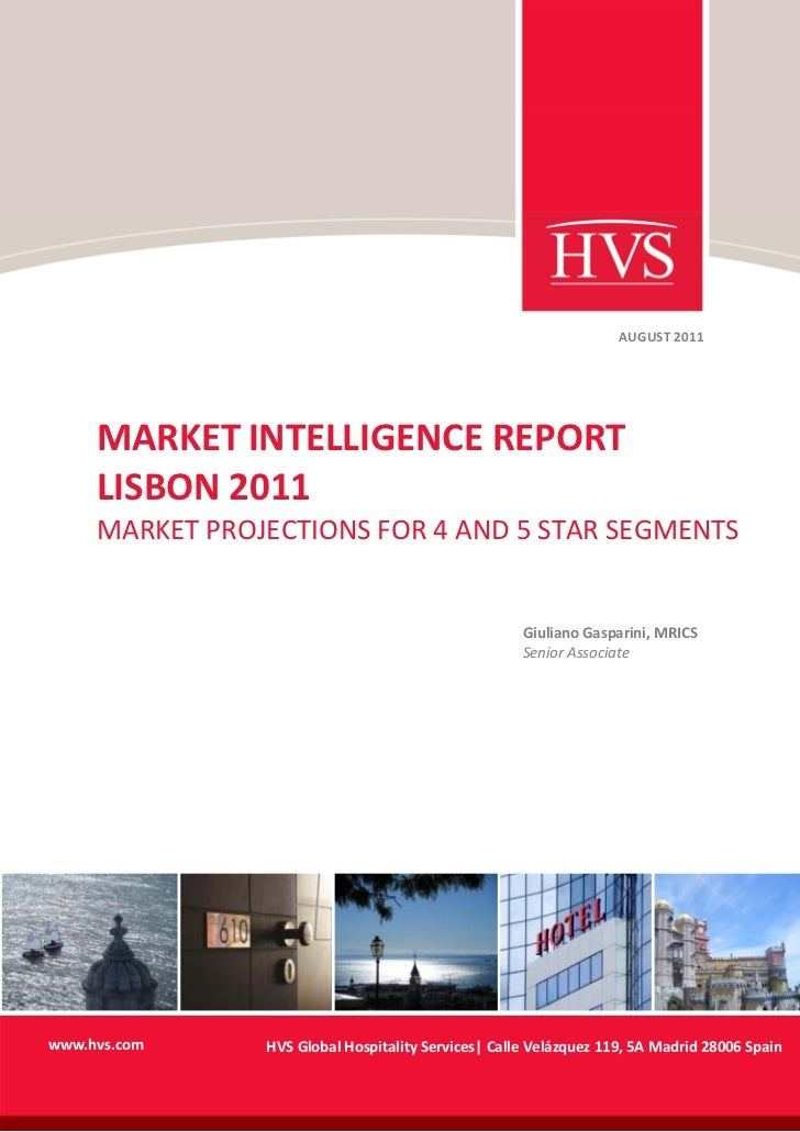AUGUST 2011     MARKET INTELLIGENCE REPORT...