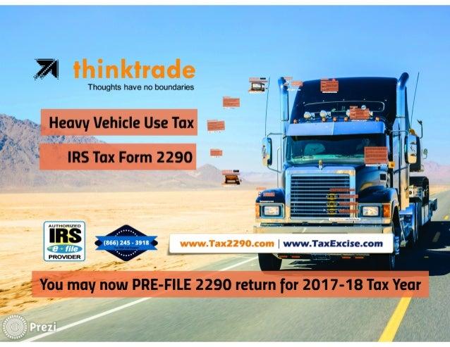 HVUT 2290 for 2017 tax year Slide 2