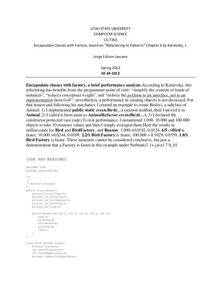 UTAH STATE UNIVERSITY                                          COMPUTER SCIENCE                                           ...