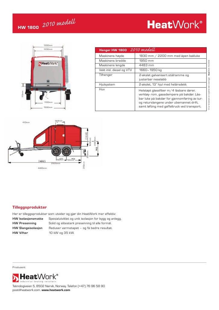 HW 1800          2010 modell                        1300mm                       1200mm                                   ...