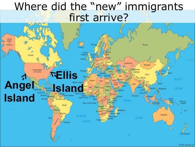 HW - Ellis island on us map