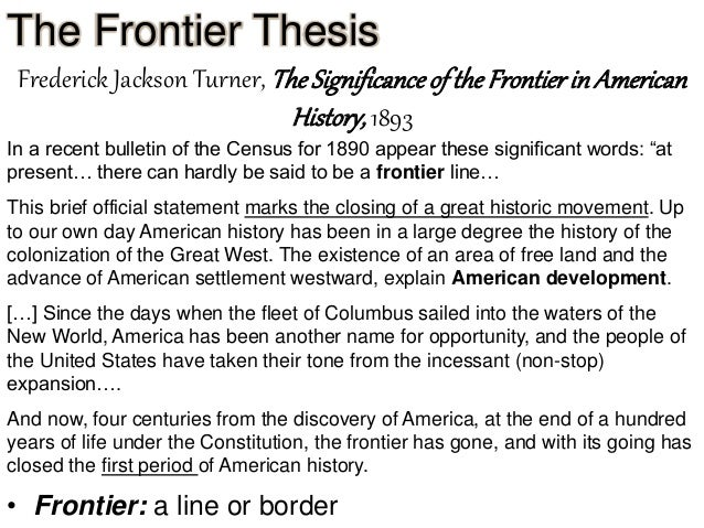critics of the frontier thesis