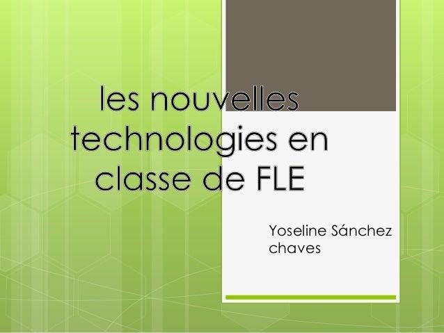 Yoseline Sánchez chaves