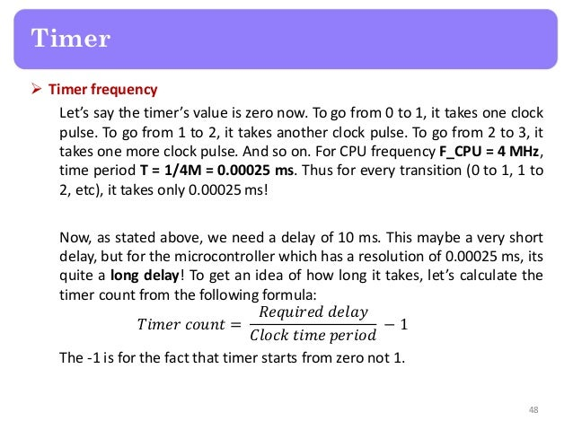 PIC TIMER1 CALCULATION FORMULA - 555 Timer Tutorial - The