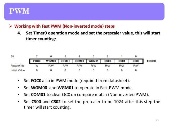 Hardware interfacing basics using AVR
