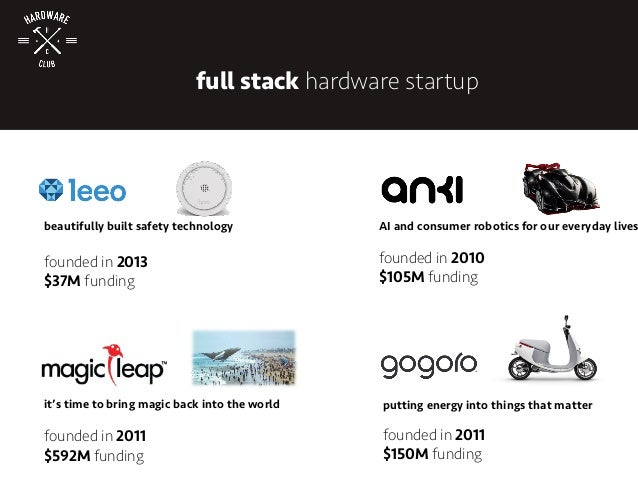 full stack hardware startup it's time to bring magic back into the world founded in 2011 $592M funding putting energy into...