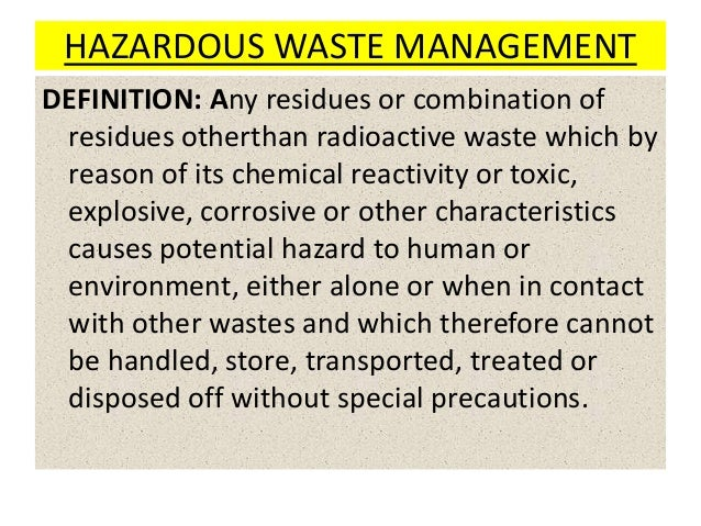 RAFI MTECH  SVU; 2. HAZARDOUS WASTE MANAGEMENT ... Amazing Pictures