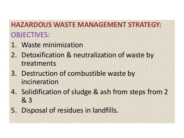 7. HAZARDOUS WASTE MANAGEMENT ...