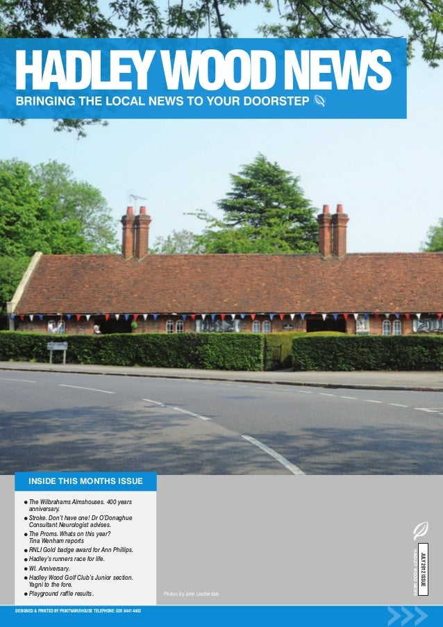 INSIDE THIS MONTHS ISSUE      The Wilbrahams Almshouses. 400 years      anniversary.      Stroke. Don't have one! Dr O'Don...