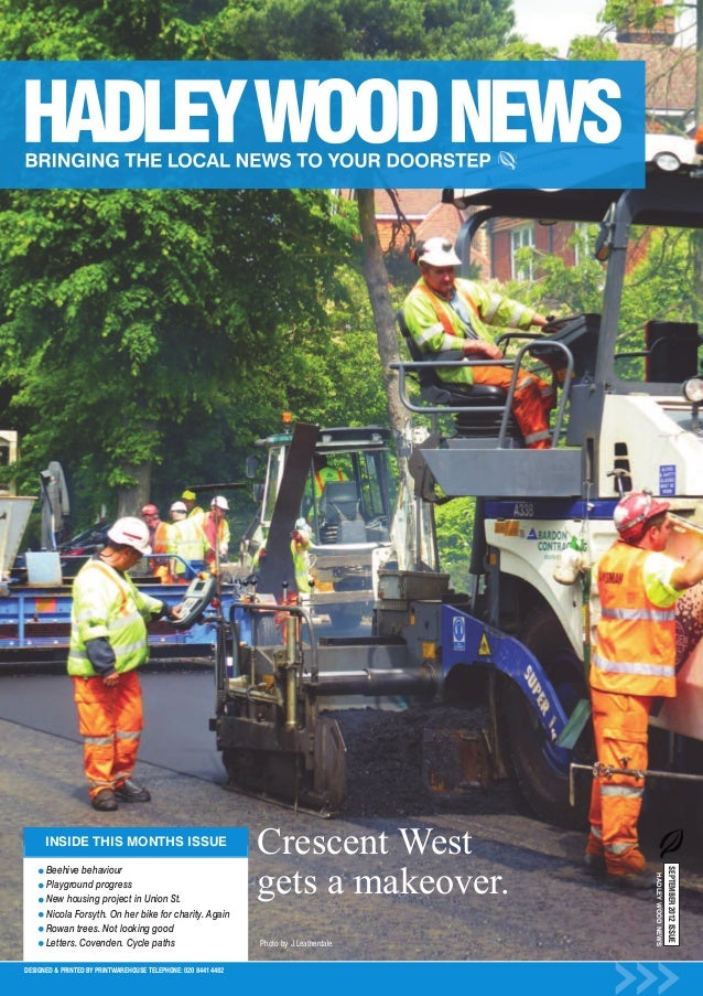 Crescent West                                                                gets a makeover.      INSIDE THIS MONTHS ISSU...